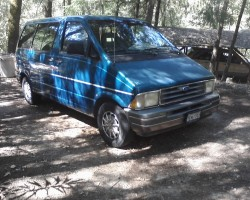 This is the vehicle I escaped the fire in.1993 Ford Aerostar Minivan.   Needs about $5000 of work now to put it back on the road,plan to provide this as transportation for the Lady that chooses me.